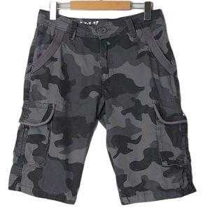 Raw X Camo Cargo Shorts Gray Size 30